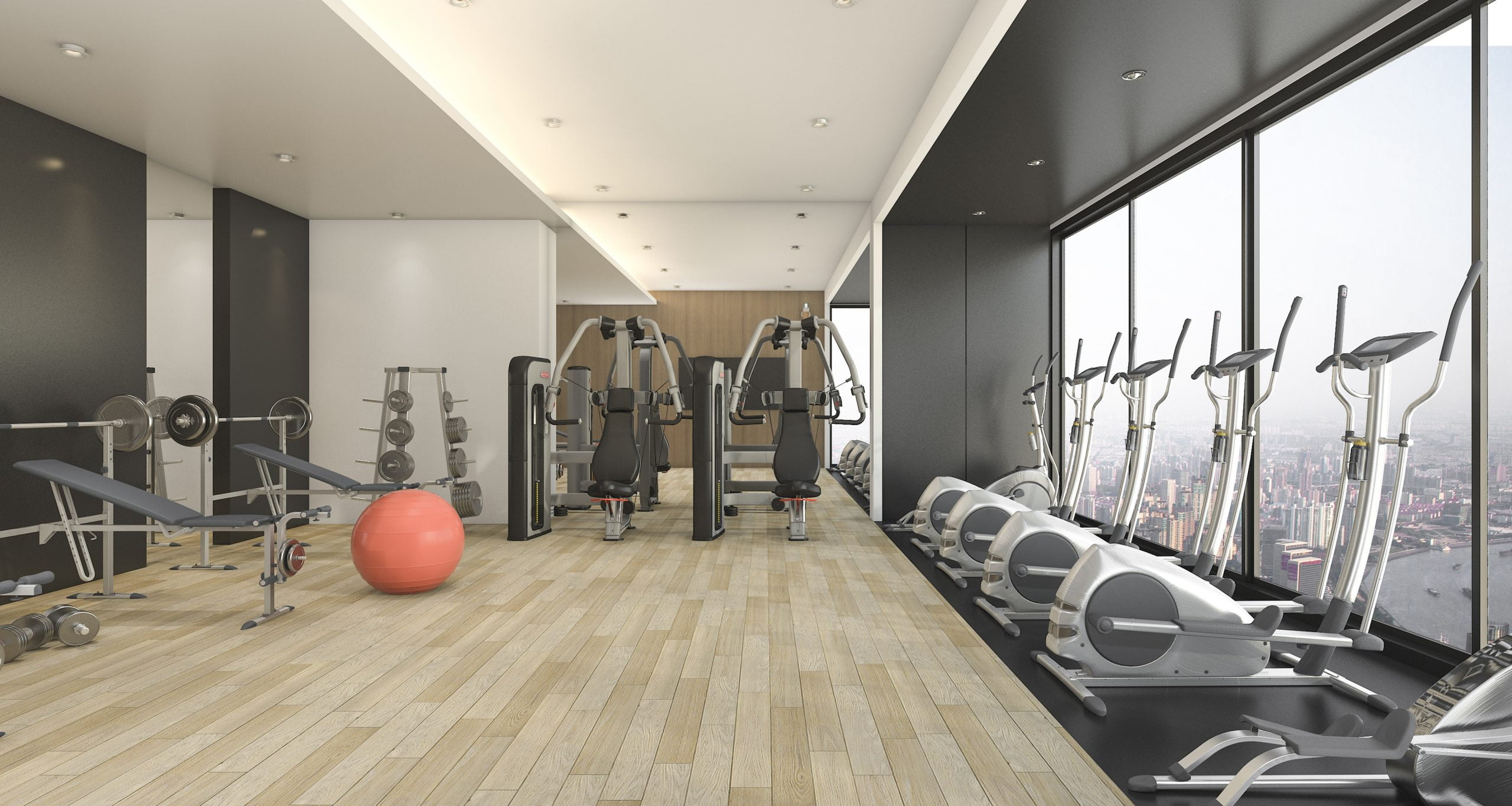 3d-rendering-modern-wood-black-decor-gym-fitness-with-nice-view